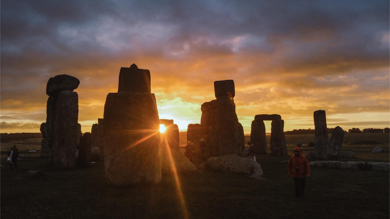 Stonehenge sunset experience. Magical